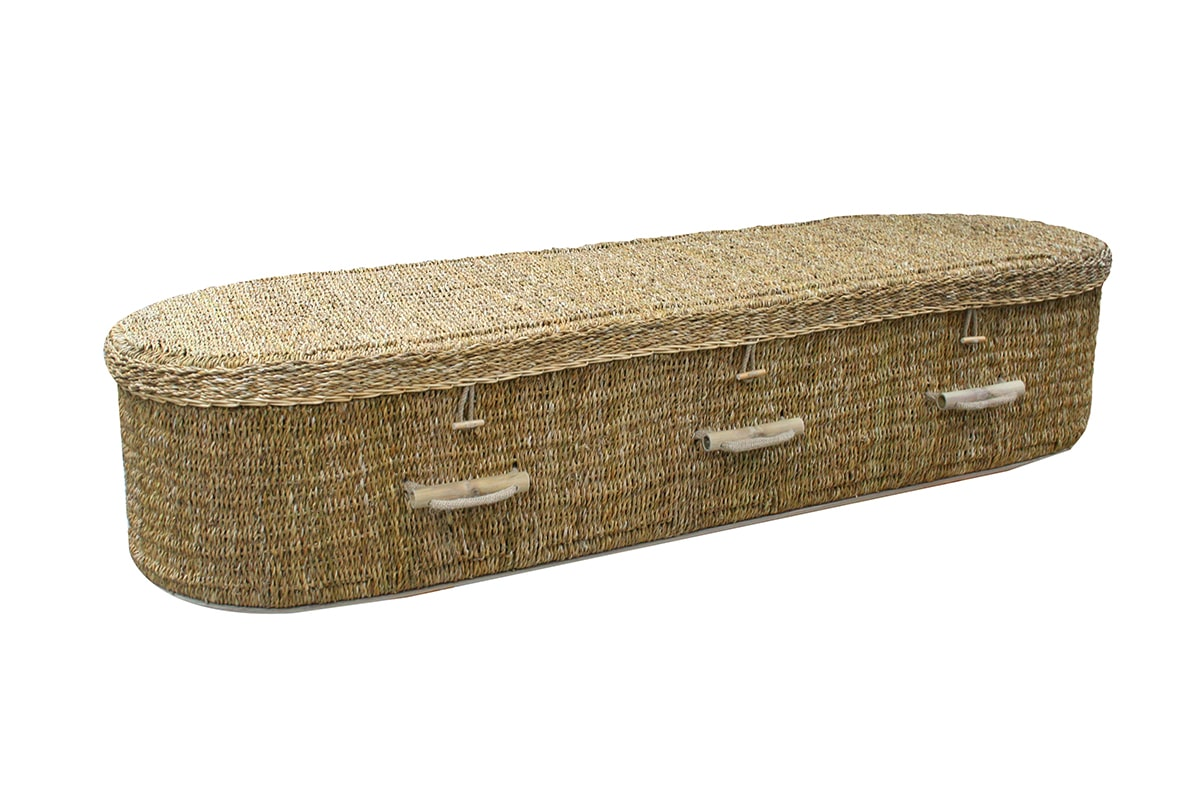Oasis Coffins - Natural Seagrass Coffin